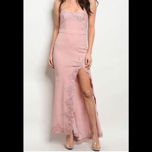 Dresses & Skirts - Blush sleeveless gown